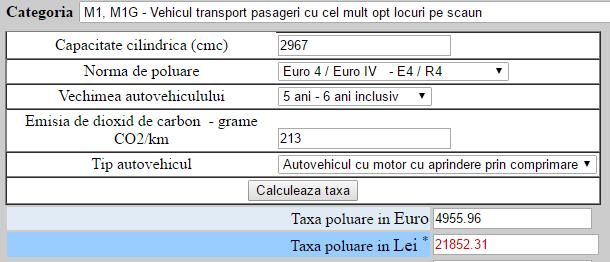 Audi A6 2011, 3.0 TDI, 233 CP, Euro 4 – 4955 euro timbru de mediu