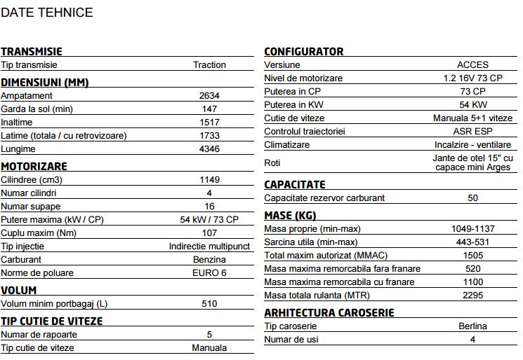 Dacia Logan Acces - 6850 euro