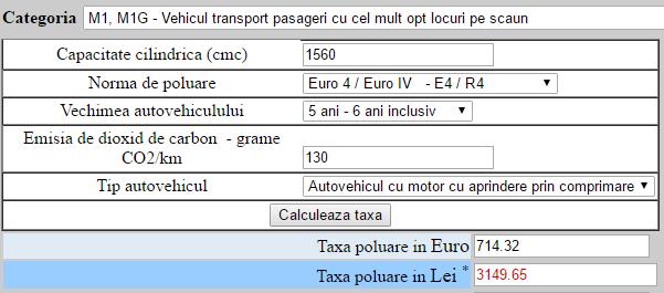 Peugeot 308 2011, 1.6 HDI, 110 CP, Euro 4 – 714 euro timbru de mediu